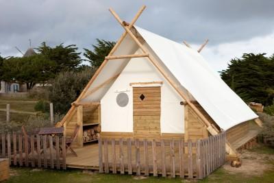 Family Cocoon 6 personnes au glamping Camping Les Moulins à La Guérinière Pays de la Loire