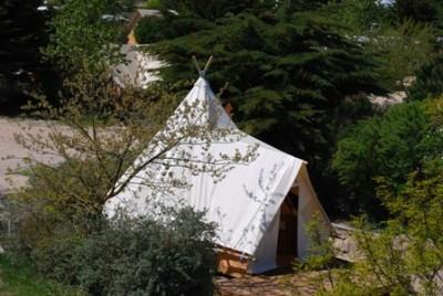 Tipi 4 personnes au glamping Camping Les Moulins à La Guérinière Pays de la Loire