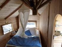 Cabane de Foleux 2/4 personnes au glamping Le Pertuis du Rofo à Nivillac Bretagne