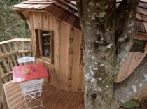 Cabane des Chouettes 2 personnes au glamping Le Pertuis du Rofo à Nivillac Bretagne