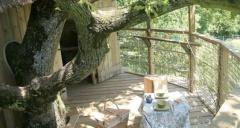 Cabane Girsberg au glamping Domaine Les Vaulx à La Baconnière Pays de la Loire