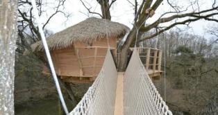 Cabane Guadeloupe au glamping Domaine Les Vaulx à La Baconnière Pays de la Loire