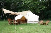 Tente Lodge au glamping Castel Camping Le Brévedent à Le Brévedent en Basse Normandie