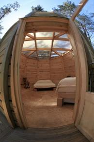 Intérieur cabane au glamping Cap'Cabane à Captieux en Gironde