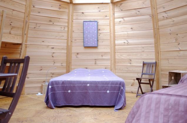 Chambre cabane au glamping Cap'Cabane à Captieux en Gironde