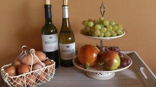 Vins de la propriété au Glamping at Montazellis à Alignan du Vent en Languedoc-Roussillon