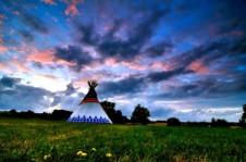 Environnement autour des tipis au glamping Tipis in France à Ranville-Breuillaud en Poitou-Charentes