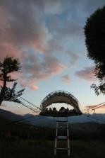 Tente bulle au glamping La Terre du milieu à Saint-Martin-d'Uriage en Rhône-Alpes