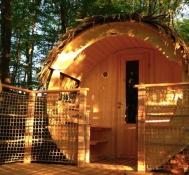 Cabane Le Fut au glamping Les Cabanes de la Romaningue à Pompignac en Aquitaine
