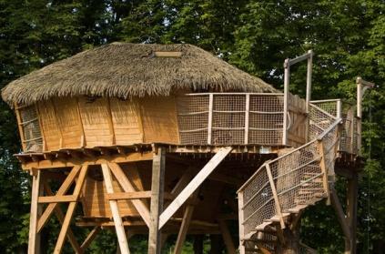Cabane sur pilotis au glamping Camping Sandaya à Maisons-Laffitte en Ile-de-France