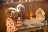 Coin salle de bain au glamping Un lit au Pré au Domaine du Cloître Saint-Christophe à Saint-Mihiel en Lorraine