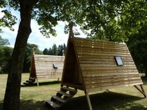 Les cabadiennes au glamping Camping de Rodaven à Chateaulin en Bretagne