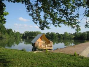 Flo'Tente au glamping Camping Saint-Louis à Lamontjoie en Aquitaine