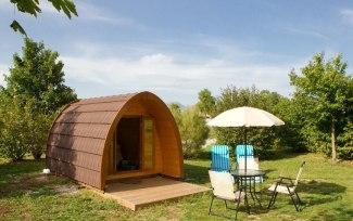 Le pod au glamping Camping Belle Roche à Lalley en Rhônes-Alpes