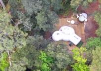 La Bulle et son spa en plein nature au glamping Lo Rey du Lac à Hossegor en Aquitaine